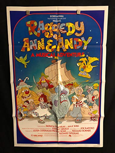 Raggedy Ann And Andy 1977 Original Vintage One Sheet Movie Poster, Cartoon, Kids, Toy, Toys, Dolls, Doll, Action Figure ()