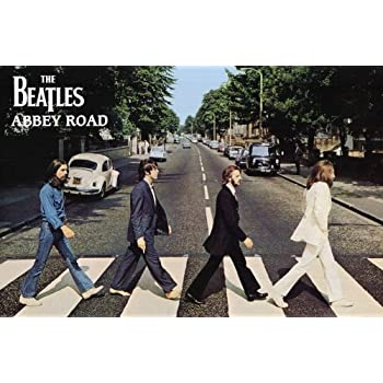 The Beatles Abbey Road Music Poster Print