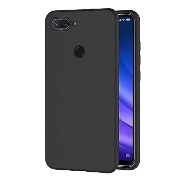 AICEK Funda Xiaomi Mi 8 Lite, Negro Silicona Fundas para Xiaomi Mi 8 Lite Carcasa Xiaomi 8 Lite Negro Silicona Funda Case (6,26 Pulgadas)