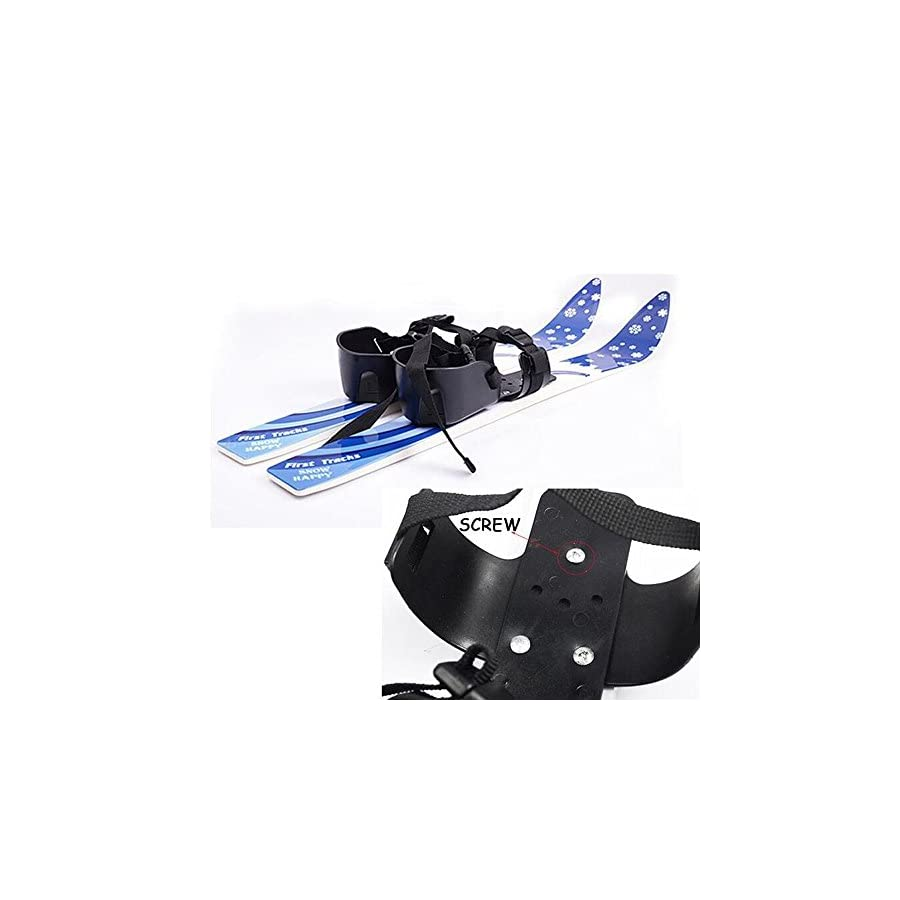 I sport ABS Plastic Snow Skis and Poles with Bindings for Kids Beginner Ages 2 4