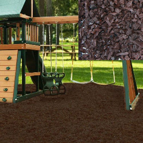 - KIDWISE Swing Set Playground Rubber Mulch 75 Cu.Ft. Pallet-Chocolate Brown