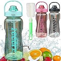 Waterfles met Rietje Drinkfles met Flessenborstel BPA Gratis Sportfles, Lekbewijs Fietsfles voor Kinderen Gym Camping…