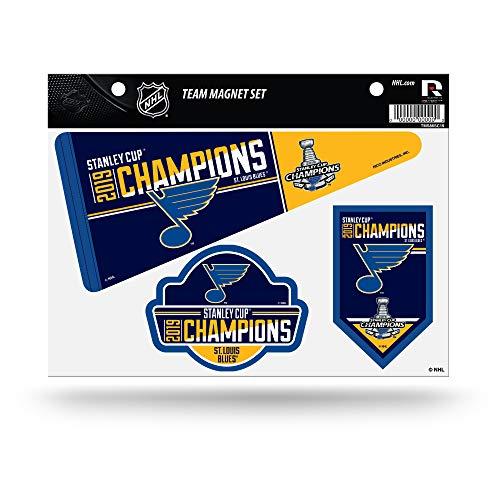 (Rico Industries NHL St. Louis Blues 2019 Stanley Cup Champions Die Cut Team Magnet Set Sheet, 11, Blue)
