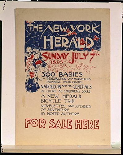 Photo: The New York Herald,Napolean,300 Babies,Japanese,Children,1895,Advertisement (Napolean Chairs)