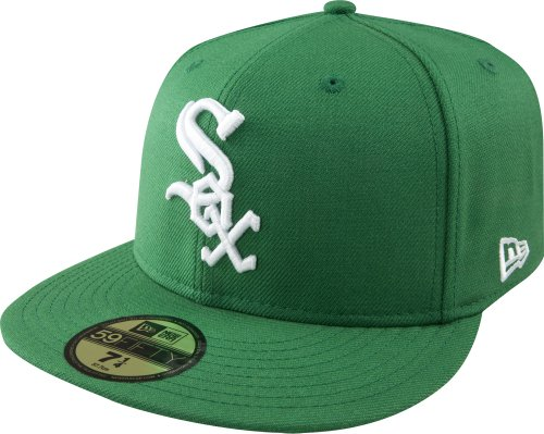 White 59fifty Cap (MLB Chicago White Sox Kelly with White 59FIFTY Fitted Cap, 7 5/8)