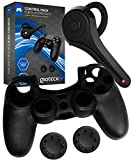 Gioteck Control Pack Gaming Peripherals and Accessories for PS4   Bluetooth Headset   Dualshock 4 Silicone Cover   2 x Dualshock 4 thumb grips