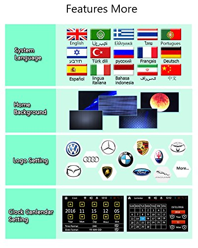 FREE Backup Camera Included + NEW Design Double Din Car Stereo DVD Player GPS Navigation Radio Bluetooth 2 Din Capacitive Touch Screen support USD SD 1080P SWC Car Logo Multi Language Remote Control by EinCar (Image #7)