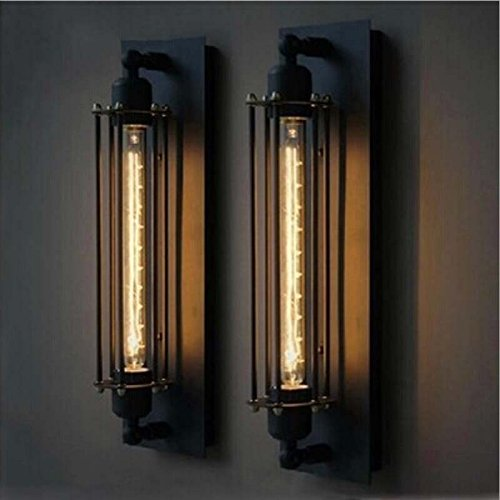 Rivet Vintage Style Wall Sconce Graphite 18.3H With Bulb