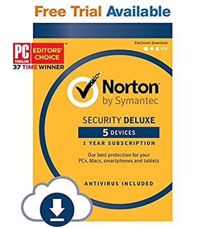 Norton Security Deluxe - 5 Devices - Monthly Subscription