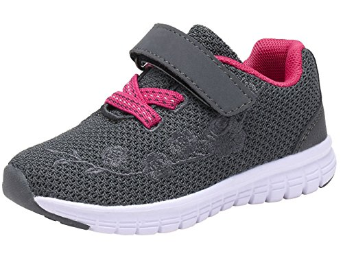 G GEERS Kids Girl's Fashion Sneakers Casual Sports Shoes (6 M US Toddler,New Grey/Fuch)]()