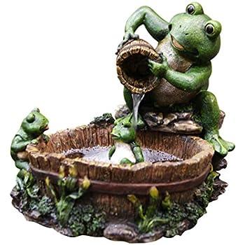 Alpine TT2508 Eternity Tabletop Fountain: Mother Frog Bathing Family