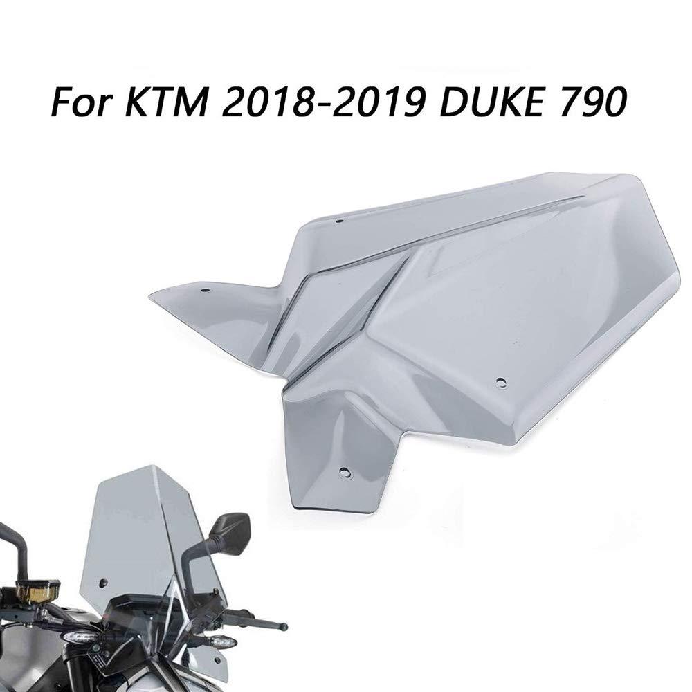 Gris Transparente Semoic Visor Deflector de Parabrisas de Motocicleta Visor para Duke 790 2018 2019 Accesorios de Motocicleta