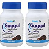 Healthvit Guggul Powder for Weight Management 250 mg - 60 Capsules (Pack of 2)