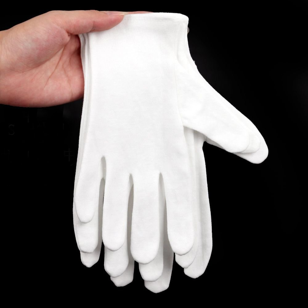 Wowlife White Soft Cotton Gloves Lightweight Gloves film, coins, CD/DVD,Etiquette, Handling Gloves (24) by Wowlife (Image #3)