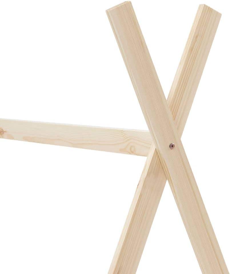 vidaXL Legno Massello di Pino Giroletto per Bambini a Doghe Design Casetta Decorativo Robusto Struttura Telaio Letto Arredi Cameretta 80x160 cm