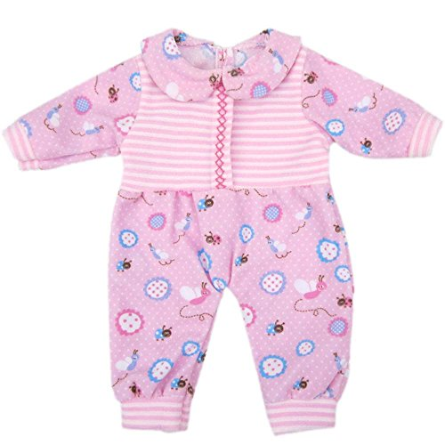 Bitty Baby Doll Clothes, AOFUL Cute Lovely Jumpsuit pajamas Outfit Fits 14''- 16'' inch American Girl Dolls and More (Bitty Baby Cloth)