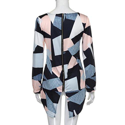 blusas mujer otoño 2017 casual Switchali moda blusa manga larga ropa de mujer en oferta vestidos de fiesta camisa floral camisas Con cremallera Espalda mujer vestir A