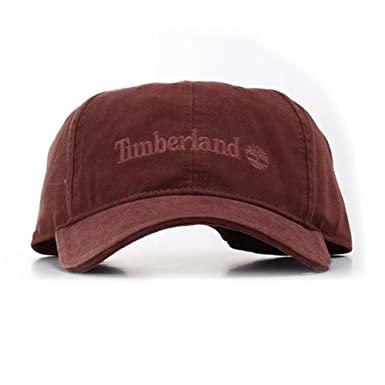 Timberland Hats 6 Panel Baseball Cap - Oxblood Adjustable  Amazon.co ... 1a01ff210794