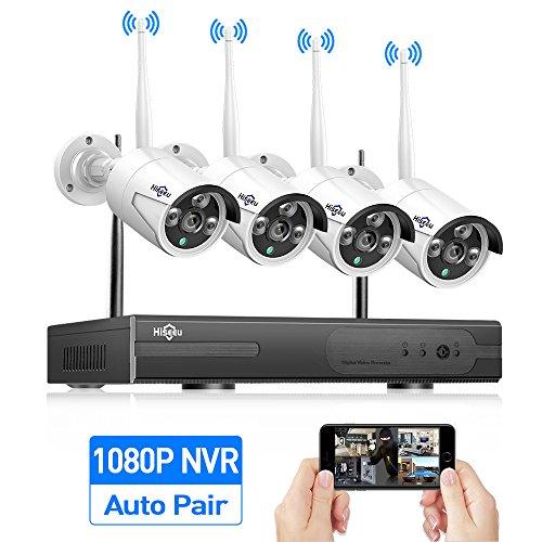 21. Hiseeu 4-Channel HD 1080P Wireless Network