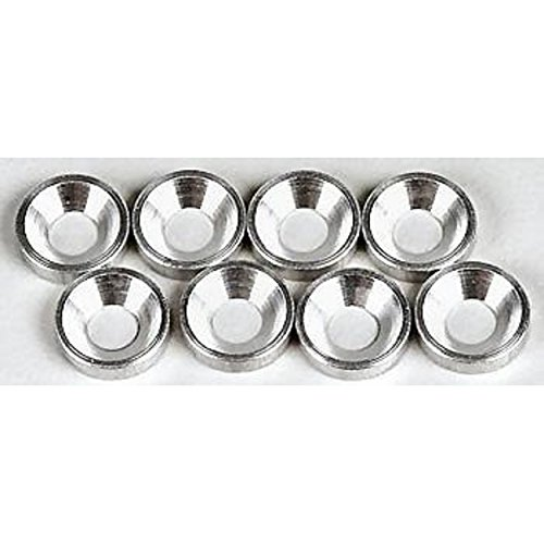 Hot Racing CW36808 Silver Aluminum 3mm Countersunk Washer (8) ()