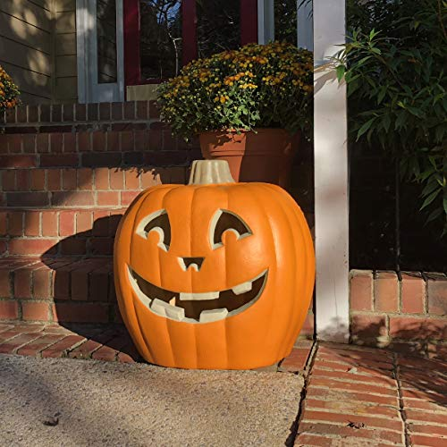 iHomegarden Halloween Pumpkin Lantern - Lighted Jack O Lantern - Holiday Pre-lit Pumpkin Lantern - Halloween Decorations -Indoor/Outdoor Pumpkin Festival Celebration Garden, Patio, Front Door Décor (Outdoor Decorations Pumpkin)
