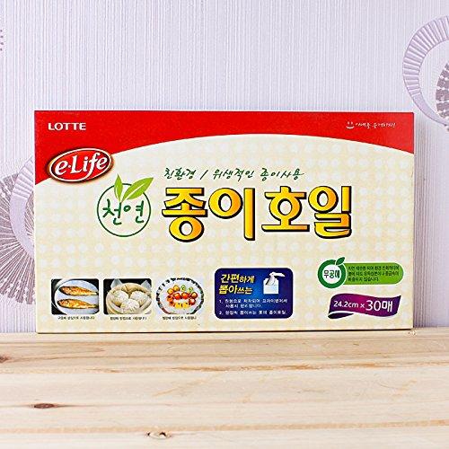 Lotte e-life Natural Pulp Cooking & Baking Paper Sheets-24.2cm x 30 sheets