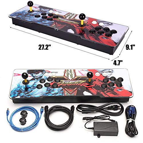 HAAMIIQII Pandora's Key 7 3D Home Arcade Game Console   No Games Pre-Loaded   Full HD (1920x1080) Video   2 Player Game Controls   Add More Games   Support 4 Players   HDMI/VGA/USB/AUX Audio Output by HAAMIIQII (Image #4)