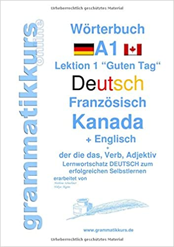 Wörterbuch Deutsch - Französisch Kanada - Englisch Niveau A1 ...