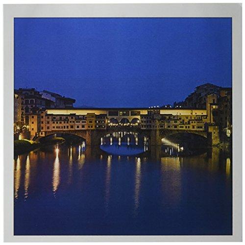 Vecchio Florence Ponte - 3dRose Italy, Florence, Ponte Vecchio Bridge, Arno River - EU16 BTH0023 - Brenda Tharp - Greeting Cards, 6 x 6 inches, set of 12 (gc_82086_2)