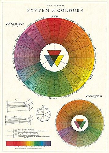 "Cavallini & Co. Color Wheel Chart Decorative Paper Sheet 20"" x 28"""