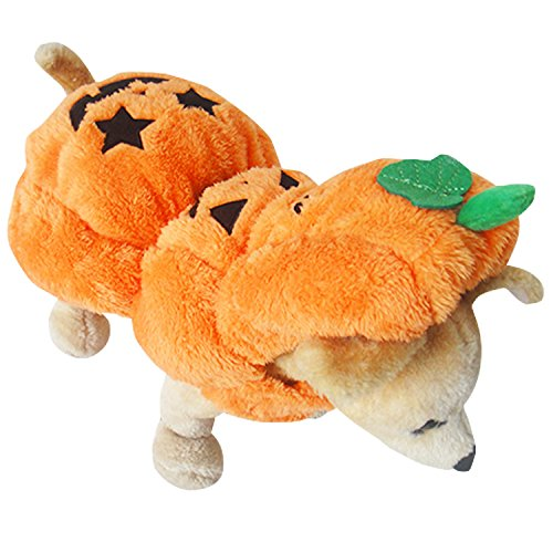 PAWZ Road Halloween Pumpkin Dog Costume Puppy Cat Clothes Cute and Warm (10.6