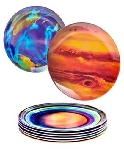 Planet Plates (Set of 8) Solar system themed dining set by Unknown
