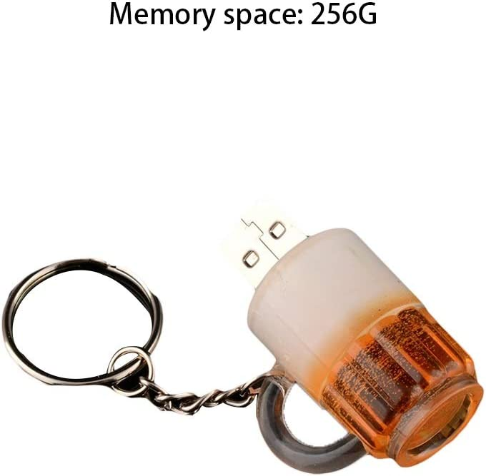 Computers Accessories USB 2.0 Flash Drive Creative Beer Mug Model 4G//8G//16G//32G//64G//128G//256G Thumb Drive Aluminum Alloy Reading Speed is 4-20MB Size : 256G S 10-11