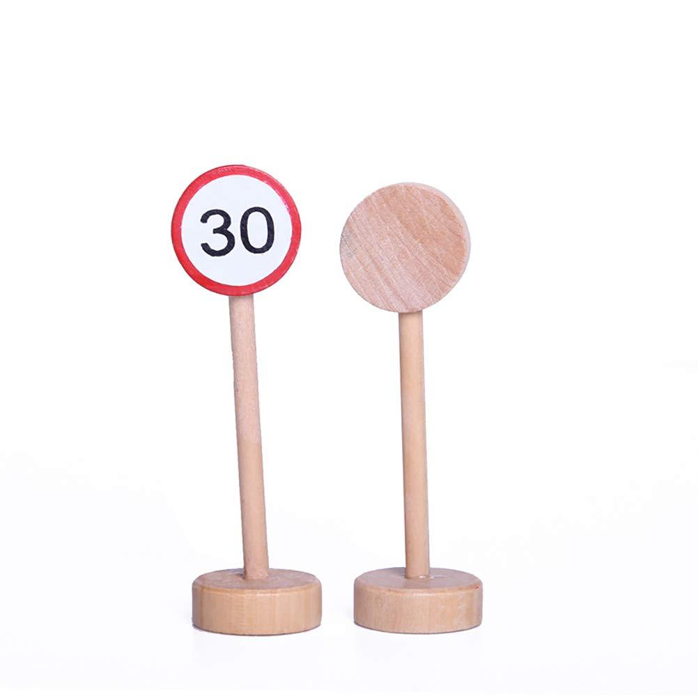 SUPVOX 15 st/ücke Holz Verkehrsschild Holz Verkehrsschilder Zubeh/ör Set Verkehrszeichen Parkplatz Kinder P/ädagogisches Spielzeug Set f/ür Kinder Geburtstagsgeschenk