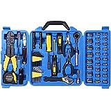 CARTMAN 122pcs Auto Tool Accessory Set, Drive Socket Set, Tool Kit Set, Electric Tool Set