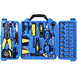 CARTMAN 122pcs Auto Tool Accessory Set, Drive Socket Set, Tool Kit Set, Electric