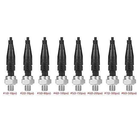 0-10PSI wosumeTransducteur de Pression G1//4 Capteur de transducteur de Pression Entr/ée 5V Sortie 0,5-4,5V//0-5V pour Eau-gazole