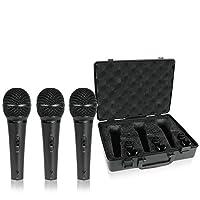 Behringer Ultravoice XM1800S Micrófonos dinámicos e instrumentales cardioides dinámicos, juego de 3