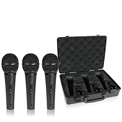 Behringer XM1800S 3 Dynamic Cardioid Vocal and Instrument Microphones (Set of 3) 9798DE