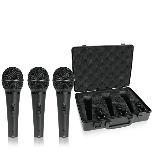 Behringer Ultravoice XM1800S Dynamic Cardioid Vocal and Instrument Microphones, Set of - Samson Microphone Dynamic Vocal