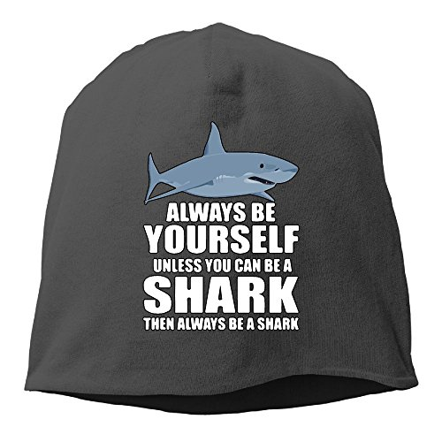 Always Be Yourself Unless You Can Be A Shark Unisex Knit Hat Soft Stretch Beanies Skull Cap Hedging Cap (Shark Beanie)