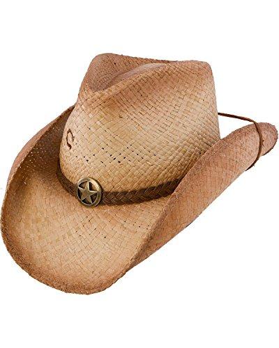 (Charlie 1 Horse Men's Lone Ranger Straw Cowboy Hat Tea Large)