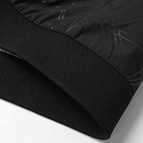 Col Slim Noir Veste Jacket Roiper D'aviateur Blouson Baseball Manteaux Patchwork Cuir Homme Loisirs Coats En Bomber Outerwear Pu Coupe Montant vPZanP4