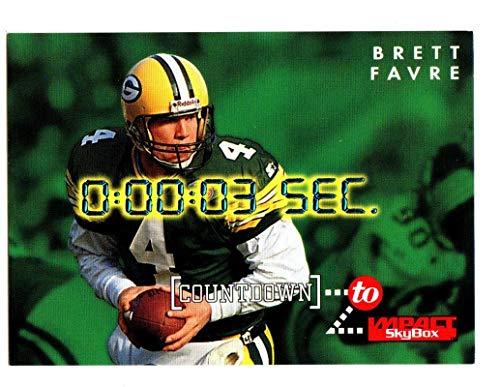 1995 SkyBox Impact Countdown #C9 Brett Favre GREEN BAY Packers HOF Southern Miss Golden Eagles Mississippi (BM) NFL Football Card