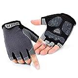 Cycling Gloves,JOOKKI Mountain Bike Gloves Half Finger Anti-slip Shock-absorbing Pad Breathable Biking Gloves for Men&Women (S)