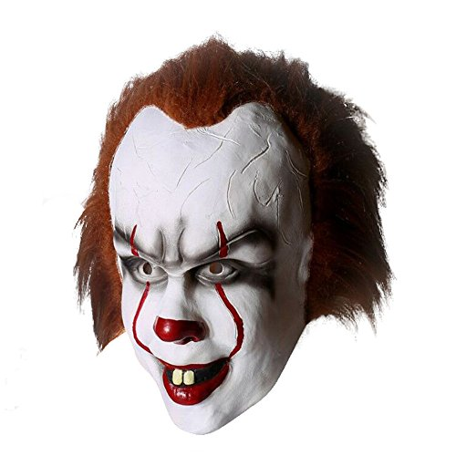 Stephen King It Costume (Stephen King's It 2017 Movie Pennywise Cosplay Halloween Full Face Clown Mask Props)