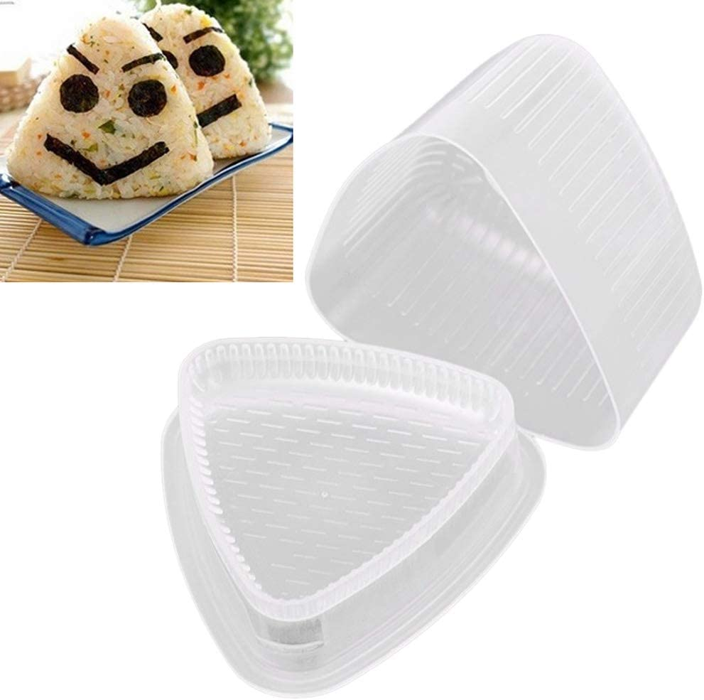 Calayu 2 stampi per sushi triangolari Onigiri Form Rice Ball Maker Sushi Rice Cake Press Mold Bento Maker