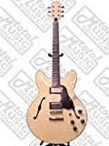 Oscar Schmidt Delta King Semi Hollow Electric Guitar, 2 Pickups, Natural, OE30FN