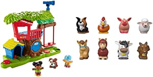 Fisher-Price Little People Swing & Share Treehouse Playset & Little People Animal Friends