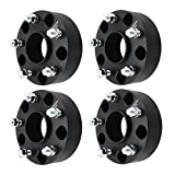GDSMOTU 5 Lug Dodge Ram 1500 Wheel Spacers, 4pc Black 5x5.5 Hub-Centric Wheel Spacers Adapters 2'' with 14x1.5 Studs for 2012 2013 2014 2015 2016 2017 2018 Dodge Ram 1500